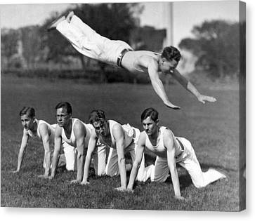Acrobatic Swandive Canvas Print by Underwood Archives