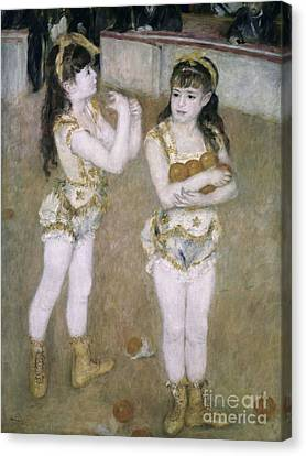 Performers Canvas Print - Acrobats At The Cirque Fernand by Pierre Auguste Renoir