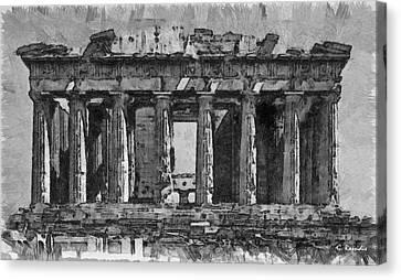 Acropolis Canvas Print by George Rossidis