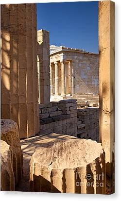 Greek Icon Canvas Print - Acropolis Temple by Brian Jannsen