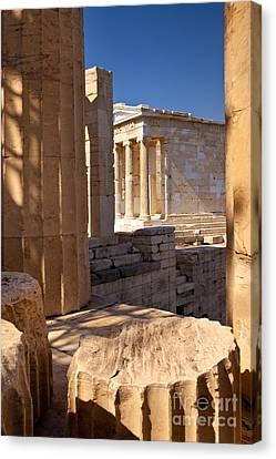 Nike Canvas Print - Acropolis Temple by Brian Jannsen