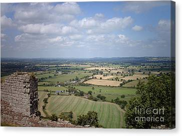 Across Cheshire From Beeston Castle England Canvas Print