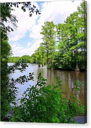 Canvas Print featuring the photograph Across Crystal Lake by Jim Whalen