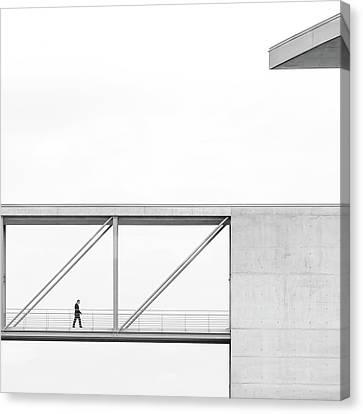 Across The Bridge Canvas Print by Klaus Lenzen