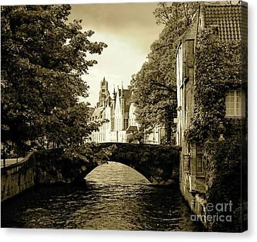 Across The Bridge Canvas Print by Louise Fahy
