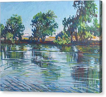 across the Joan Darrah Promenade Canvas Print by Vanessa Hadady BFA MA
