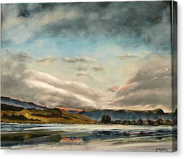 Across The Loch Canvas Print by Jo Appleby