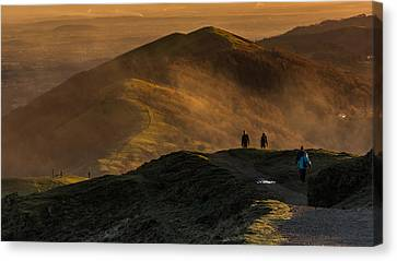 Across The Malverns At Sunset Canvas Print by Chris Fletcher