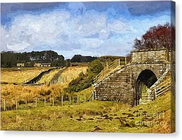 Across The Old Railway - Phot Art Canvas Print
