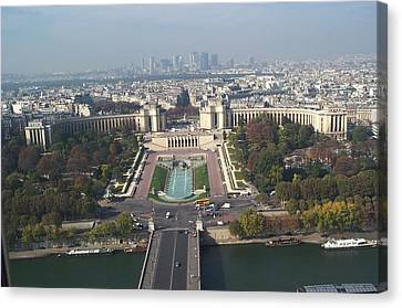 Canvas Print featuring the photograph Across The Seine by Barbara McDevitt