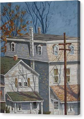 Across The Street Canvas Print by Tony Caviston