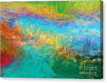 Across The Way. Big Painting Modern Abstract Fine Art Canvas Print