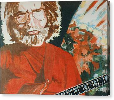 Canvas Print featuring the painting Acrylic Jerry by Stuart Engel