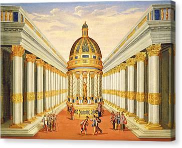 Bacchus Temple Canvas Print by Giacomo Torelli
