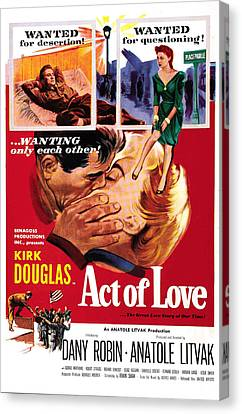 Act Of Love, Us Poster, Top From Left Canvas Print by Everett