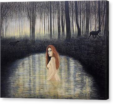 Actaeon And Artemis Canvas Print