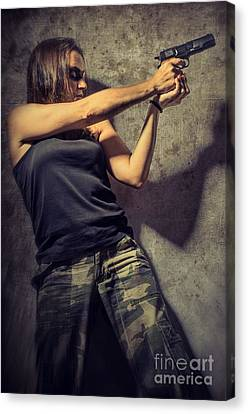 Action Woman I Canvas Print by Carlos Caetano