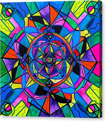 Sacred Canvas Print - Activating Potential  by Teal Eye  Print Store
