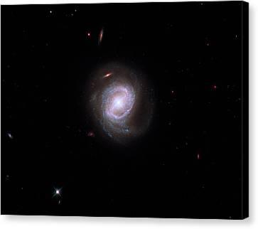 Active Galaxy Markarian 817 Canvas Print by Nasa/esa/stsci/hubble Sm4 Ero Team