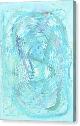 Active Head Space Canvas Print by Phoenix De Vries