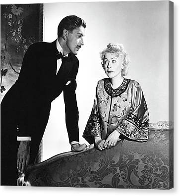 Ladies In Waiting Canvas Print - Actor Alan Napier And Actress Gladys George by Horst P. Horst