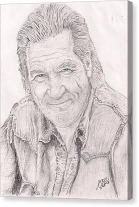Jeff Bridges Canvas Print - actor Jeff Bridges by Jerome Cotone