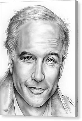 Actor Richard Dreyfus Canvas Print by Greg Joens