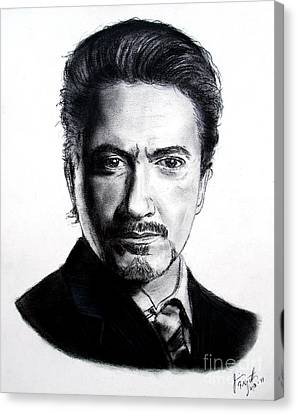Actor Robert Downey Jr Canvas Print by Jim Fitzpatrick