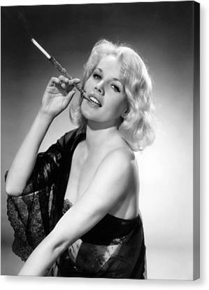 Actress Carroll Baker Canvas Print by Underwood Archives