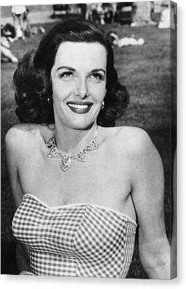 Actress Jane Russell Canvas Print by Underwood Archives