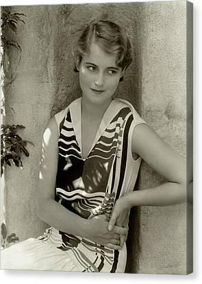 Moran Canvas Print - Actress Lois Moran by Edward Steichen