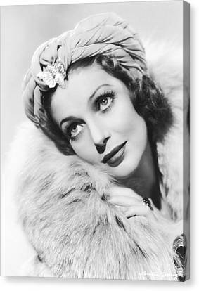 Actress Loretta Young Canvas Print by Underwood Archives