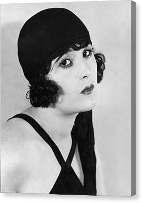 Actress Margaret Livingston Canvas Print by Underwood Archives