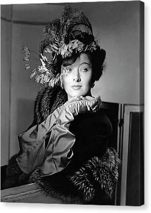 Actress Myrna Loy Canvas Print