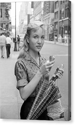 Actress Susan Oliver Canvas Print by The Harrington Collection