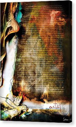 Jordan Canvas Print - Acts 1 by Switchvues Design