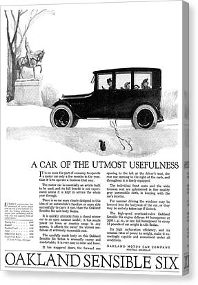 Ad Automobile, 1918 Canvas Print by Granger
