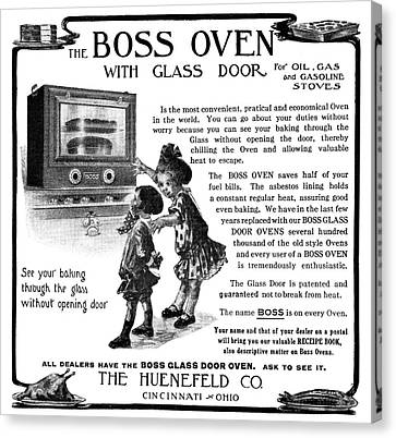 Ad Boss Oven, 1911 Canvas Print