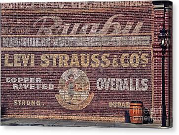 Ad On Brick Canvas Print