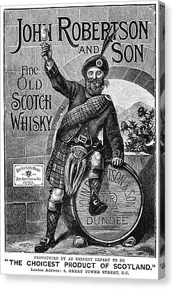 Ad Scotch Whisky, 1893 Canvas Print by Granger