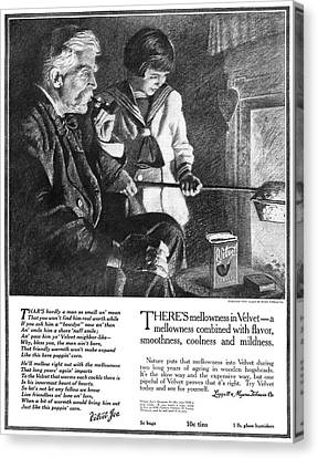 Cooks Illustrated Canvas Print - Ad Tobacco, 1918 by Granger