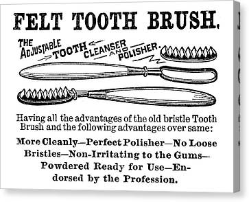 Ad Toothbrush, 1887 Canvas Print by Granger