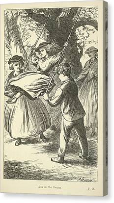 Ada In The Swing Canvas Print by British Library