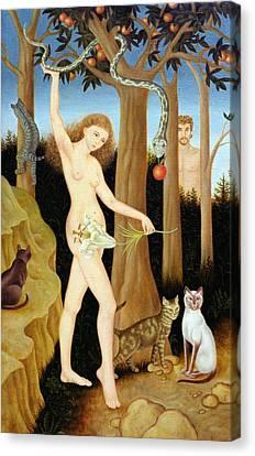 Adam & Eve, 1990 Canvas Print