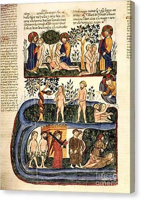 The Creation Of Adam Canvas Print - Adam And Eve, 1430 Artwork by Patrick Landmann