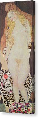 Adam And Eve, 1917-18 Canvas Print