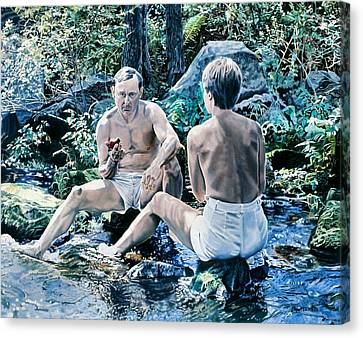 Canvas Print - Adam And Eve by Dave Martsolf