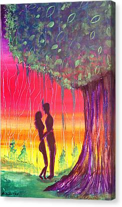 Adam And Eve Canvas Print by Fore Lima and Donnelly