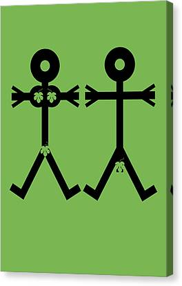 Adam And Eve Icon Canvas Print