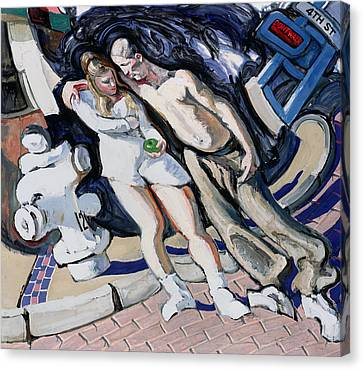 Adam And Eve, South Of Market Canvas Print by Alek Rapoport